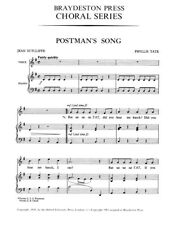 Phyllis Tate Postman's Song Learn to Sing Unison Voice SHEET MUSIC BOOK
