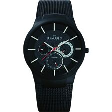 Skagen Men's Quartz Chronograph Black Tone Stainless Steel Slim  Watch 809XLTBB