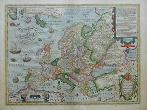 HONDIUS_Rare NOVA EUROPAE DESCRIPTIO_1615 Amsterdam_Rare Very Good condition