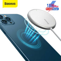 Baseus 15w Magnetic Wireless Charger Fast Charging Mini Pad For iPhone 12 Pro