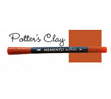 Memento Dye Ink Dual Tip Marker Water Based POTTER'S CLAY Rust Terra Cotta