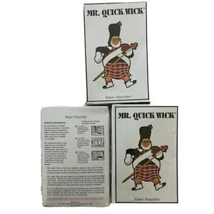 Lot 3 Mr Quick Wick water absorbers NOS New