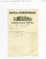 Paris VIII è Gare St Lazare - Belle Entête Caves Comestibles Terminus Hotel 1893
