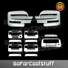 For Ford F-150 09-14 Chrome Mirror, Door Handle, TailgateTrunk Cover W/O Camhole