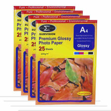 100 Sheets Pack Sumvision 200gsm A4 Inkjet Photo paper White Glossy Surface