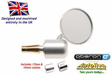 "Oberon 60mm Streetfighter Bar End Mirror (7/8"" Bars/12-19mm ID) MIS-6014-SILVER"