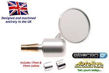"Oberon billet 60mm 'Streetfighter' bar end mirror (Silver-7/8"") Autolive Online"