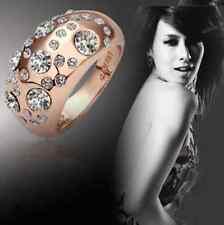 Damenring Ring Geschenk Style Edel Steinchen Kupferfarben Bling Hot