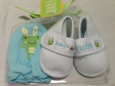 Carter/'s baby Boy 0-6 months Baby/'s First Easter Frog Shoes Booties Mittens Gift