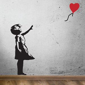 Ragazza Con Palloncini Banksy Adesivi Da Parete,Muro Grafica,Da Parete, Arte,