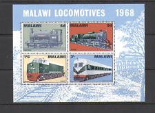 Malawi 1968 TRAINS/Steam/Rail/Transport 4v m/s (n16074)