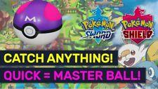 MasterBall pack x5 x10 x20 x30 x50 (x100 All Gmax) + Shiny Pokemon Sword Shield
