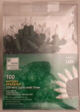 Home Accents Holiday - 100 Battery Operated Mini Lights with Timer | LED | 33'