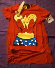 Rubie's Costume DC Comics Wonder Woman T-Shirt With Cape And Headband Sz Small