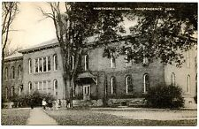 B5971 Hawthorne School Independence IA - Old Black & White Postcard Publ. Artvue