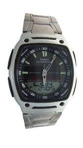 New Casio Men's Analog Digital Watch AW81D 1AV Data bank World T 10 Yr battery