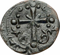 JESUS CHRIST Class I Anonymous Ancient 1078AD Byzantine Follis Coin CROSS i84296