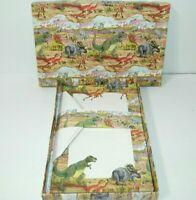 Dinosaur Stationary Set Paper & Envelopes T-Res Triceratops Unused Vintage 90s