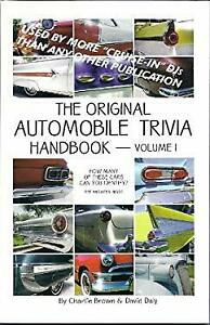 The Original Automobile Trivia Handbook - Vol 1 by CHARLIE BROWN, DAVID DALY