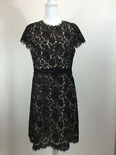 New JCrew $228 Collection Lace Fit-and-Flare Dress Black Size 12 F9096 Sold Out