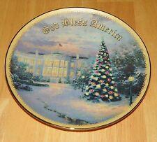 Collector Plate Lights of Liberty Thomas Kinkade God Bless America Coll Coa