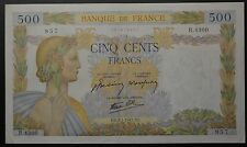 GB616 - Banknote Frankreich 500 Francs 1942 Pick#95b RAR France