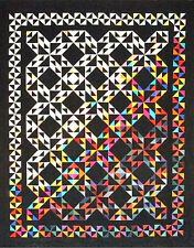 New Pieced Quilt Pattern TRIANGLE TREASURES  69X85