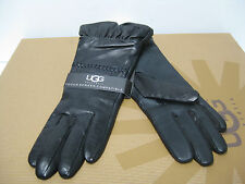 UGG TECH LEATHER WOMEN GLOVES BLACK US SIZE M
