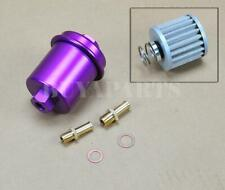 Universal High Performance Racing Fuel Filter 200psi Turbo Charger Na Purple