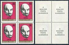 Hungary 1961a block/4,MNH.Mi 2487-I. Soviet Republic-50,1969.Vladimir Lenin.