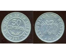 BOLIVIE   50 centavos 1987  ( bis )
