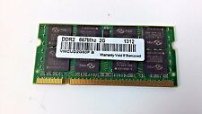 1 Pcs Laptop Notebook RAM Memory 2GB DDR2 667MHz SDRAM VMCUD2G80F B