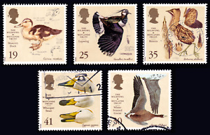 1996 Great Britain Wetlands Wildfowl. Set of 5 USED #50c#