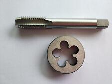 1pc HSS Machine M19 X 1mm Plug Tap and 1pc M19 X 1.0mm Die Threading Tool
