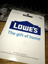$50 Physical Lowe's Gift Card Free Shipping Free Tracking