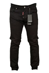 DSQUARED2 MEN'S  BLACK SLIM FIT JEANS COMPANY SECOND CLEARANCE STOCK