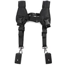 New Quick Rapid Double Dual Shoulder Sling Strap Belt Holder f Two DSLR Camera
