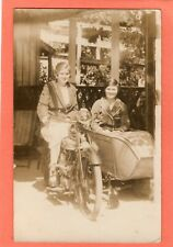 More details for   motorcycle & sidecar plain back rp pc unused ae937