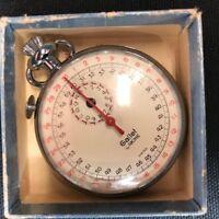 Vintage Gallet Swiss stopwatch Jules Racine & Co working
