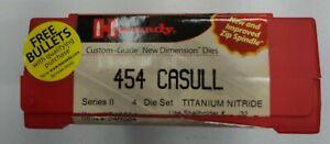 Hornady Custom Grade New Dimension Nitride 4-Die Set 454 Casull
