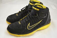Mens NIKE Huarache 2k4 Kobe Black Yellow Basketball Shoes Size 11 US 45 EU
