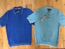 BNWT MARKS AND SPENCER COLLECTION 2 PACK PURE COTTON TAILORED POLO TOPS SIZE M
