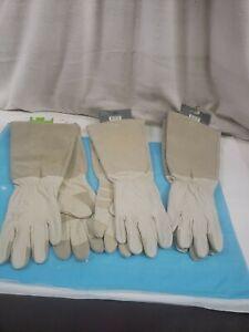 Rose Pruning Gauntlet Large Unisex Leather Gloves-LW23240-WL-Lot of 3