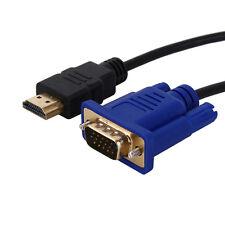 1,8m/6ft HDMI zu VGA Adapter Kabel 1080p für Video HD DVD PLayer TV Bild Monitor