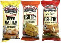 Louisiana Fish Fry Trio One Pack Each of Cajun,seasoned Beer Batter, and Seafo..