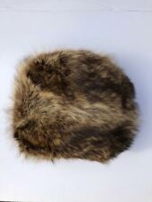 Vintage Soft Brown Raccoon Fur Muff Hand Warmer Chic!
