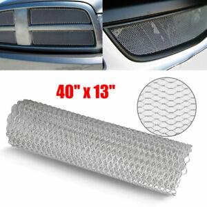 Aluminum Chrome Car Front Hood Vent Grille Net Mesh Grill Section Universal Car