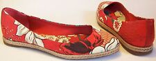 TORY BURCH canvas FLORAL printed ESPRADILLE flats SHOES made in SPAIN size 7