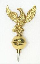 Clock Case Accessories - Brass Finial 20mm Ball Eagle Spire