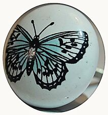 AS MANY* 4CM CERAMIC SHABBY CHIC BUTTERFLY DOOR KNOBS/HANDLES/PULLS
